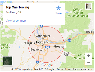 portland towing map top one